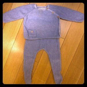 Zara baby light blue sweater pant set